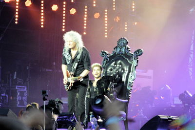 Brian May Queen and Adam Lambert